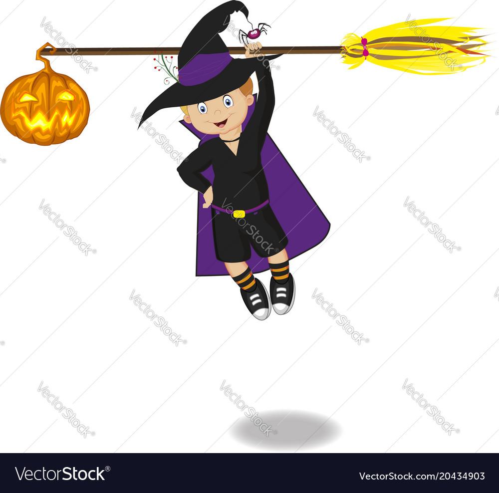 Boy with broom
