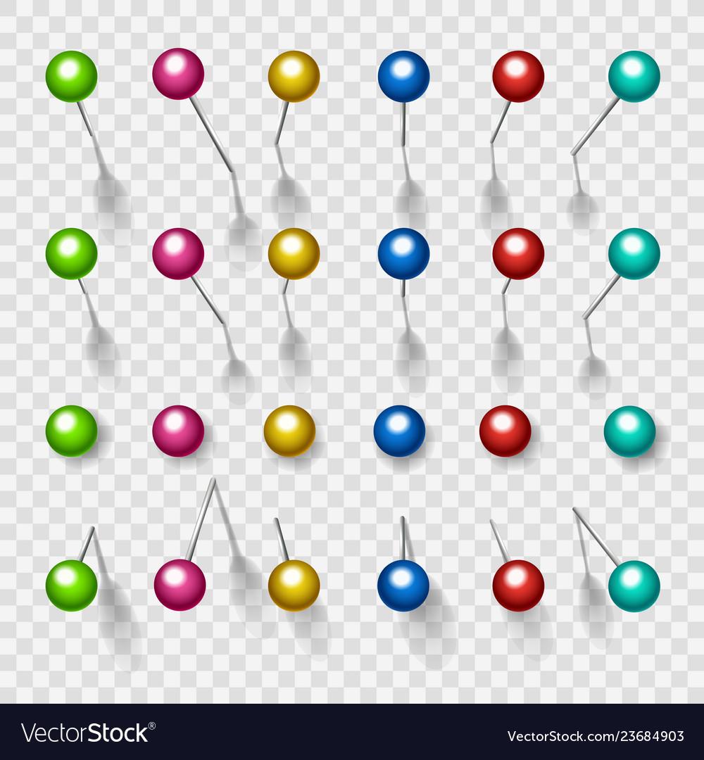 Colorful thumbtacks or pushpins