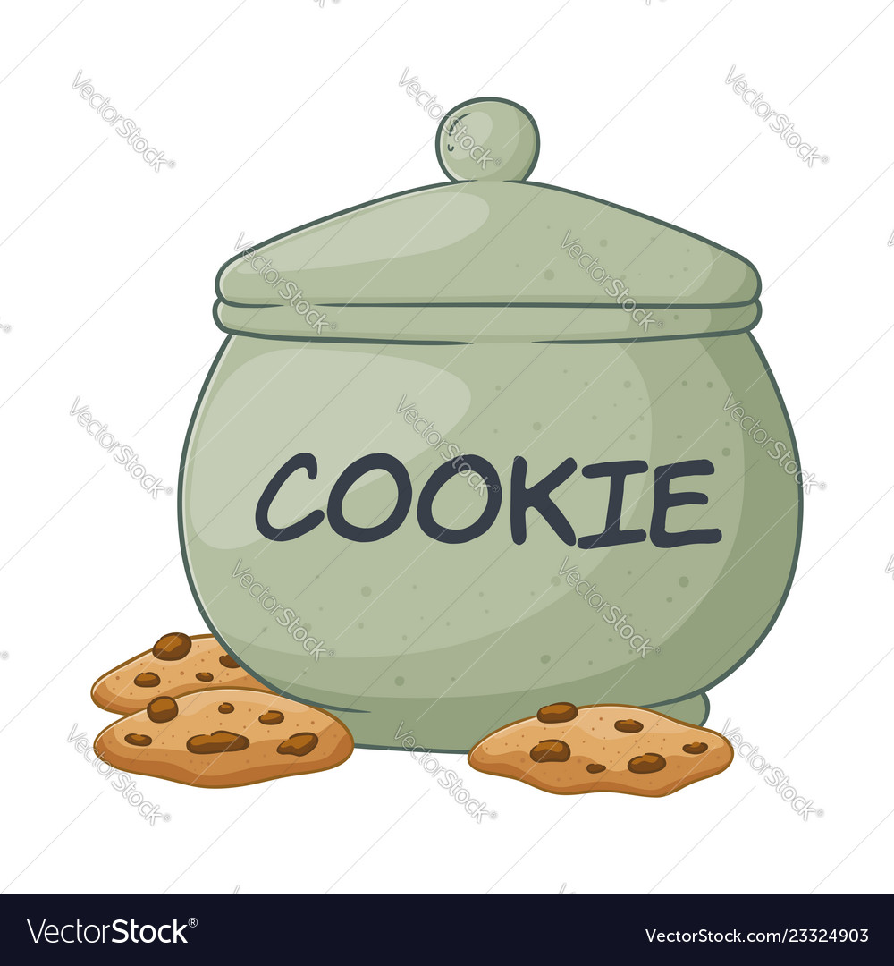 Cookie Jar Royalty Free Vector Image Vectorstock