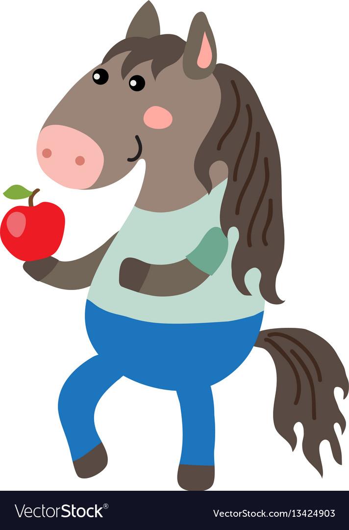 Cute cartoon horse