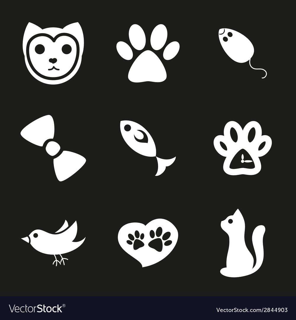 Cute cat icons set