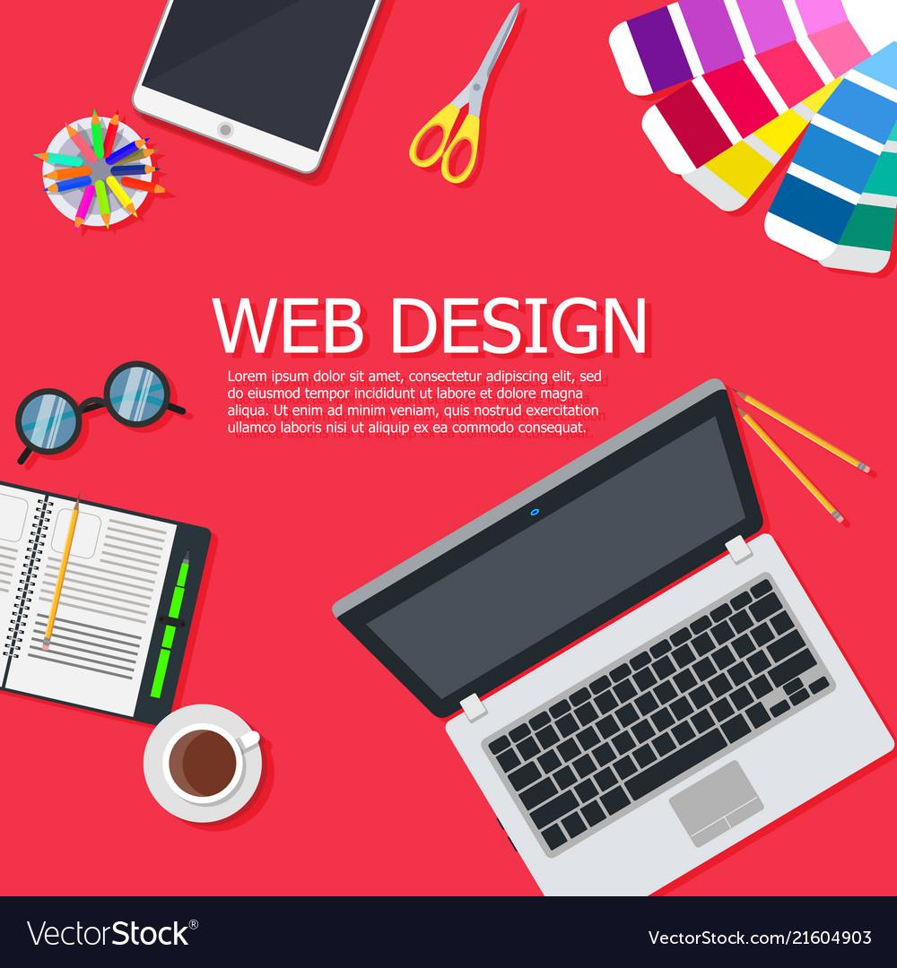 Design web interface website computer development