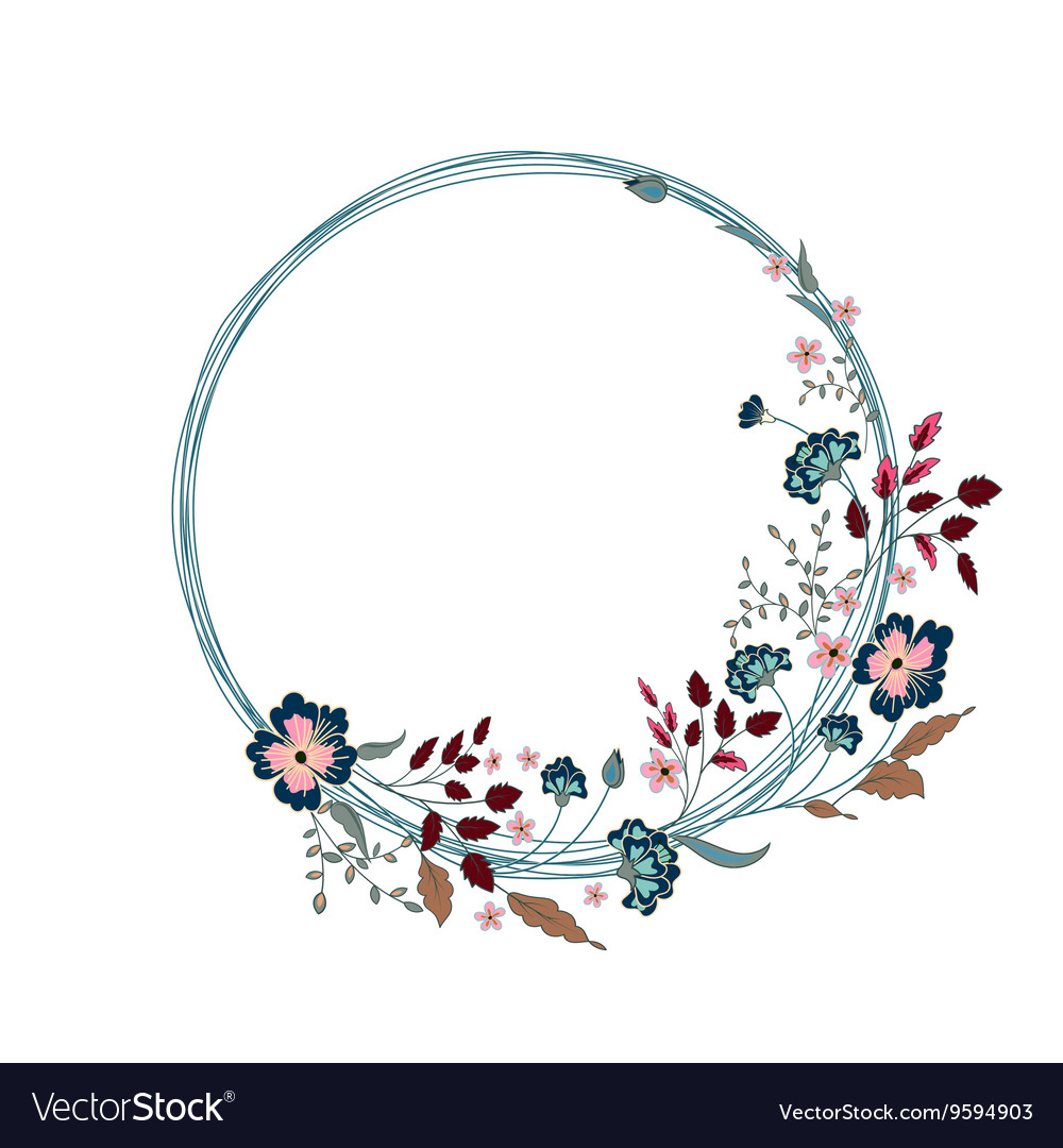 Floral Frame Cute flowers arranged un a shape of