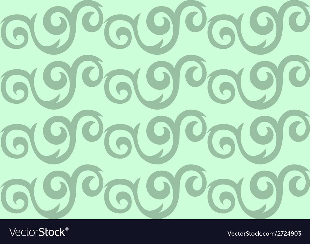 Green ornate seamless pattern