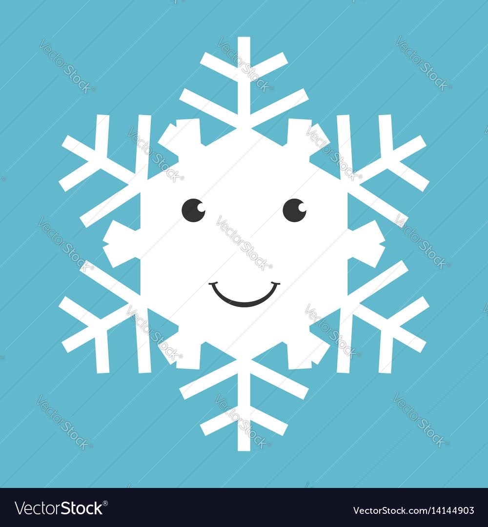 Happy snowflake character