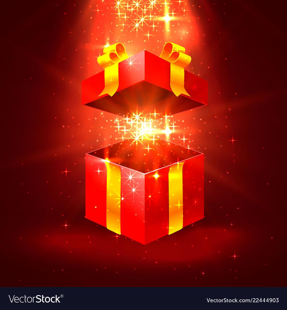 Open gift stars