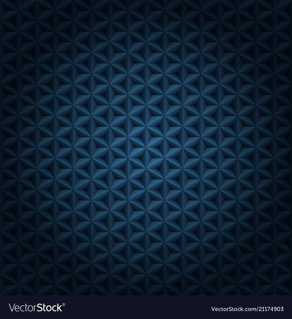 Seamless volumetric dark blue pattern with