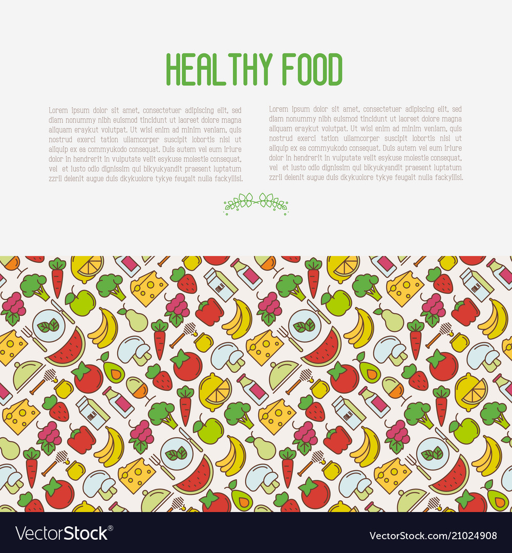Concept of organic food contains seamless pattern