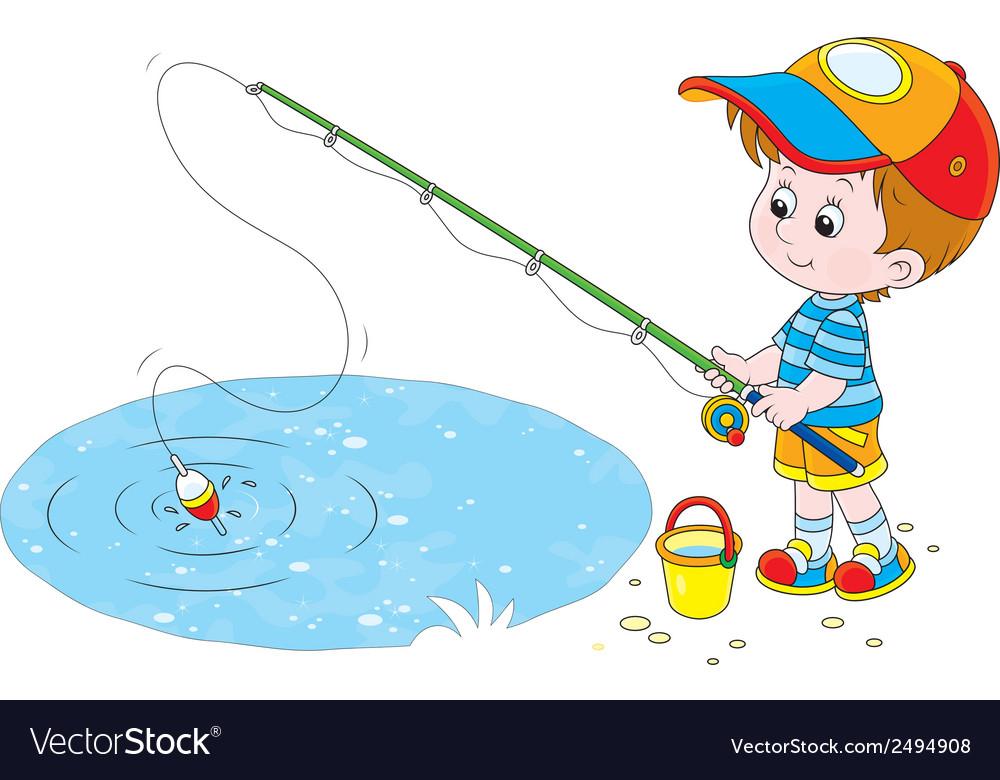 Рыбак с удочкой картинки для детей