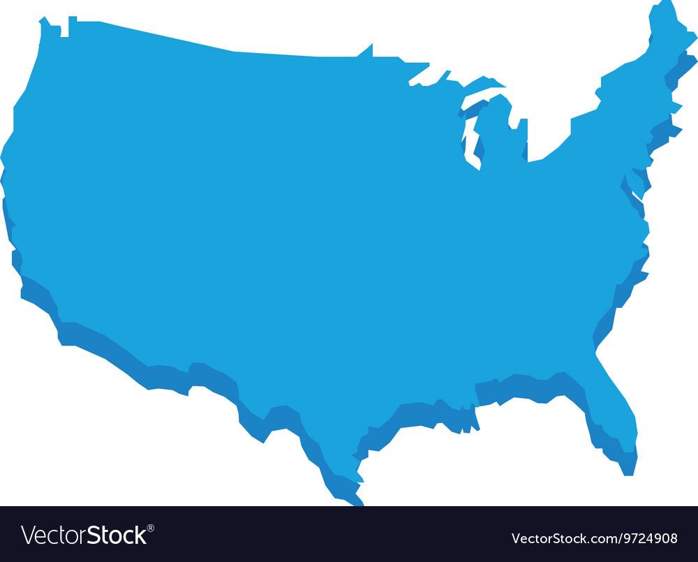 Map icon USA design graphic