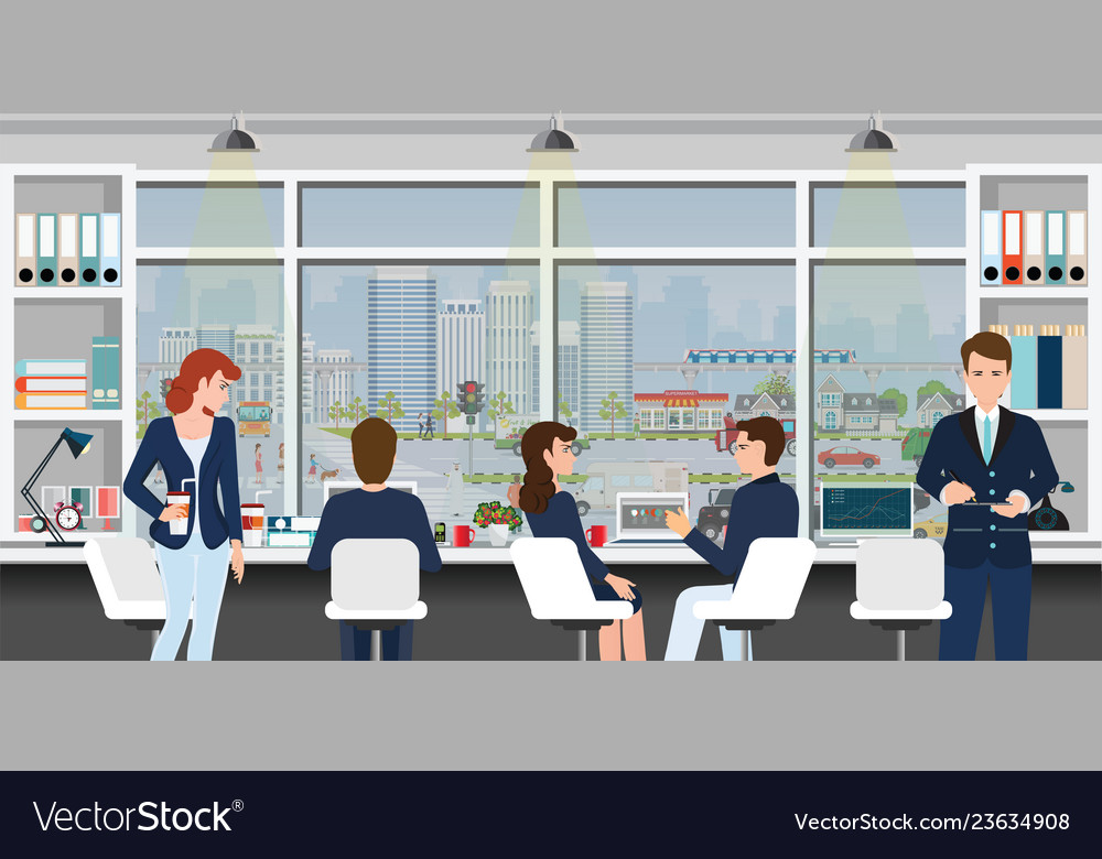 Office workplace with business people