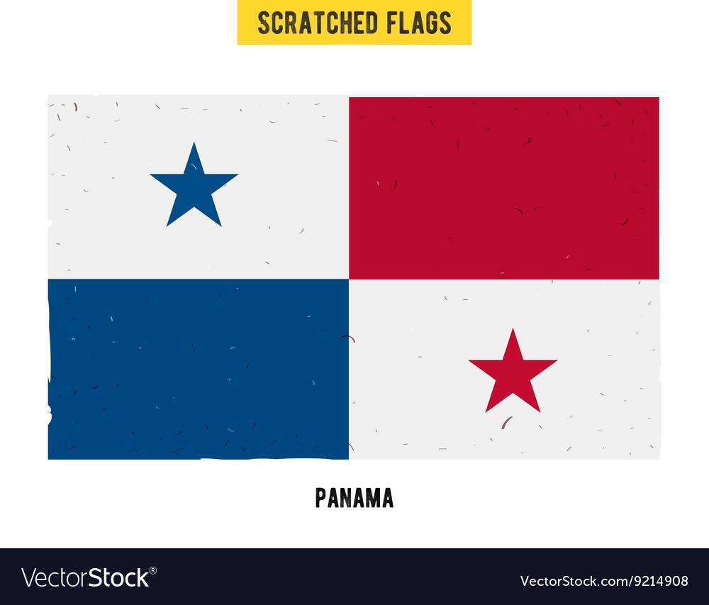 Panamanian grunge flag
