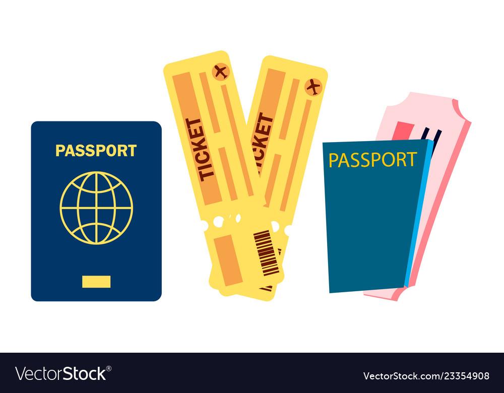Passport and airplane tickets summer