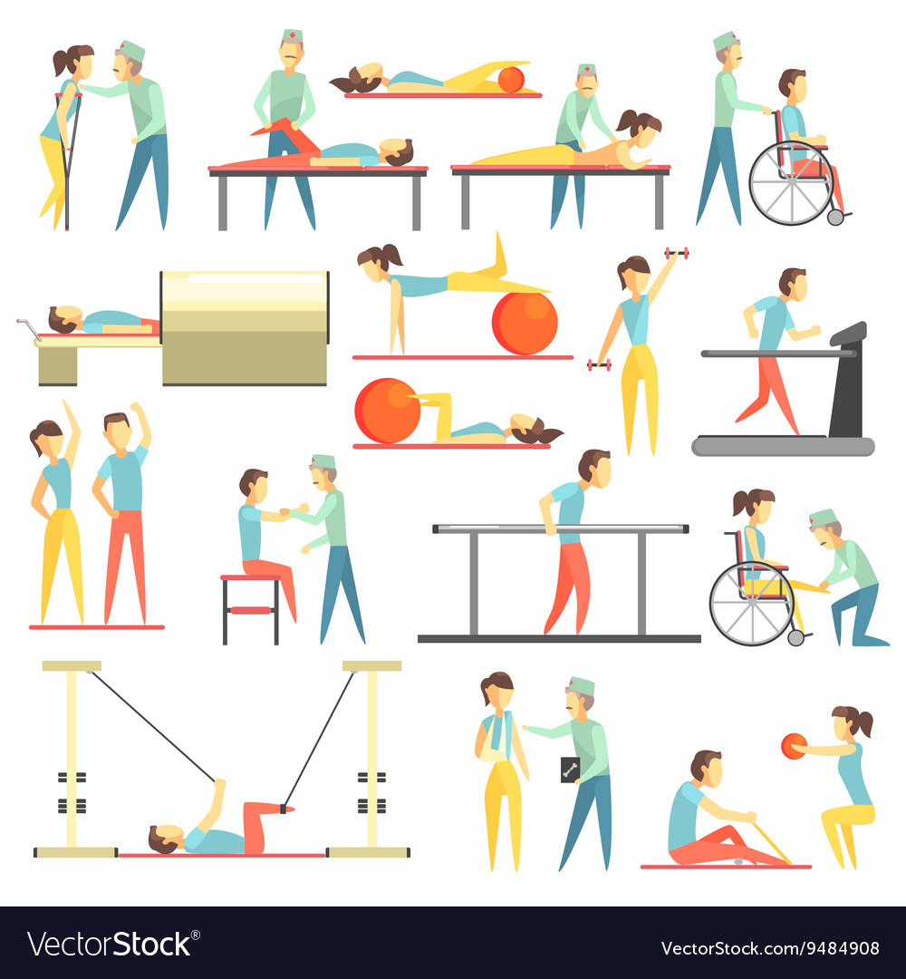 physical therapy infographic royalty free vector image