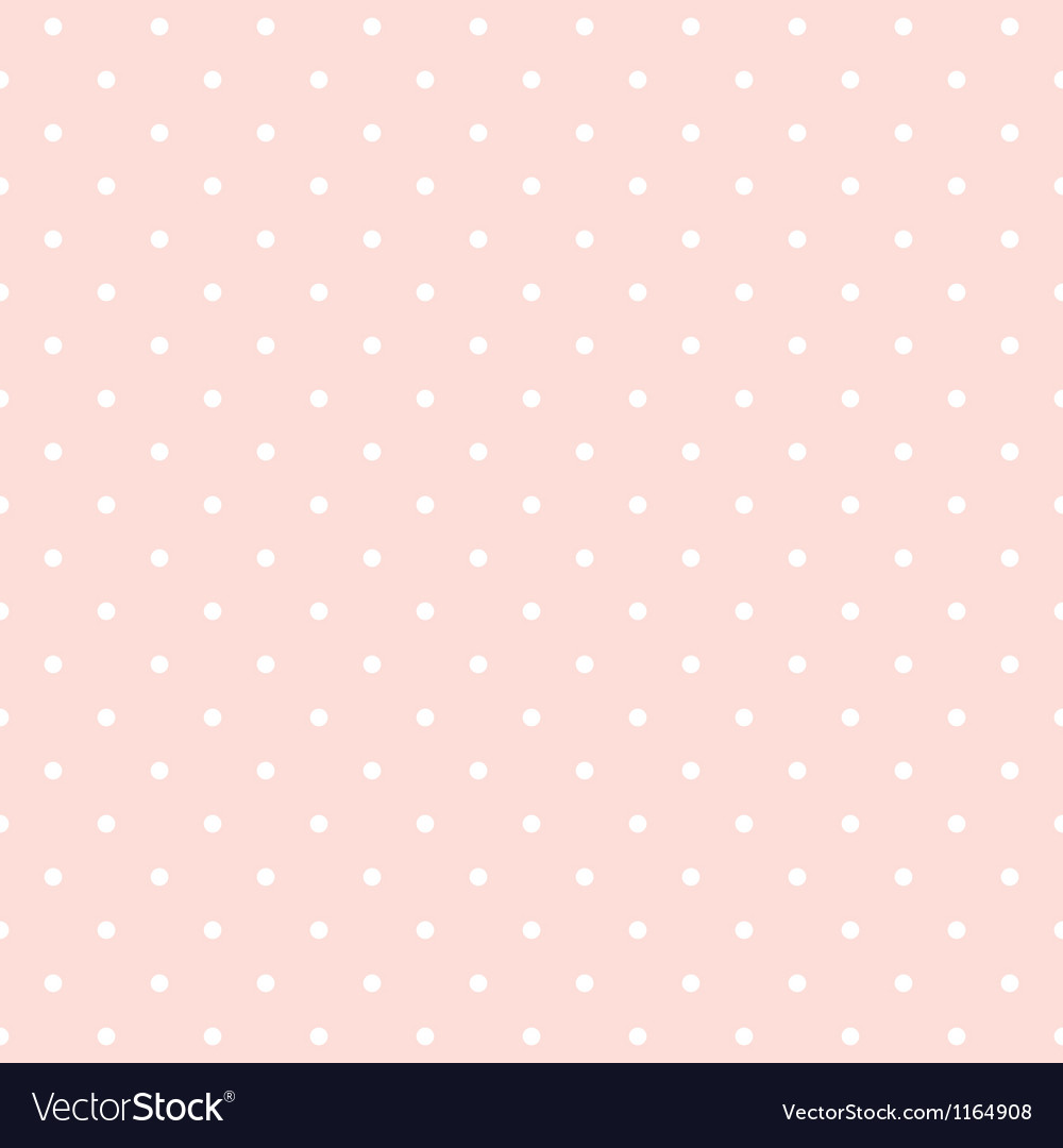 Seamless pattern white polka dots pink background vector image