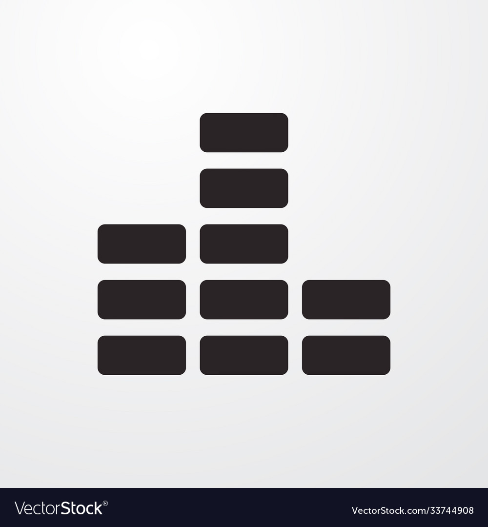 Volume sign icon flat design style for web