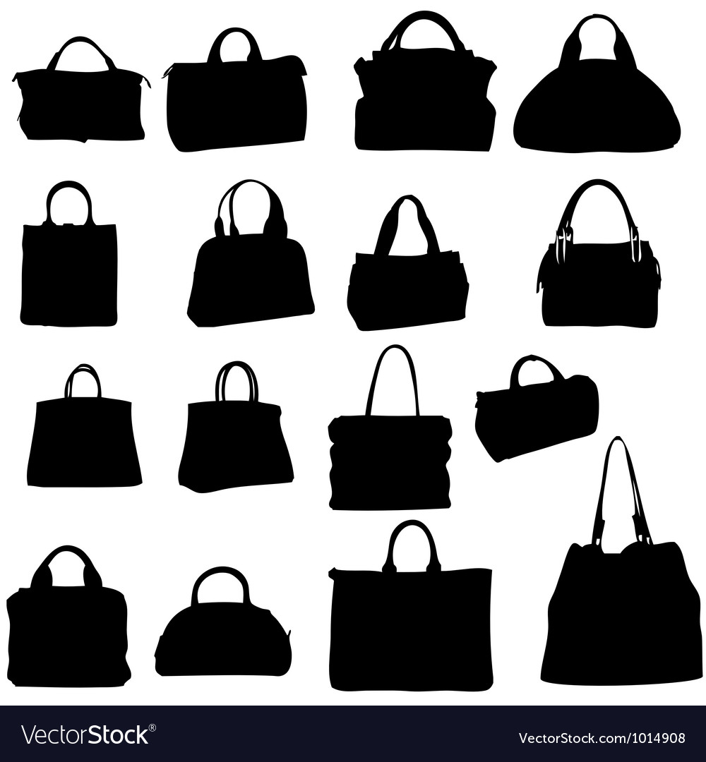 Women bags silhouette Royalty Free Vector Image ee46a21d27