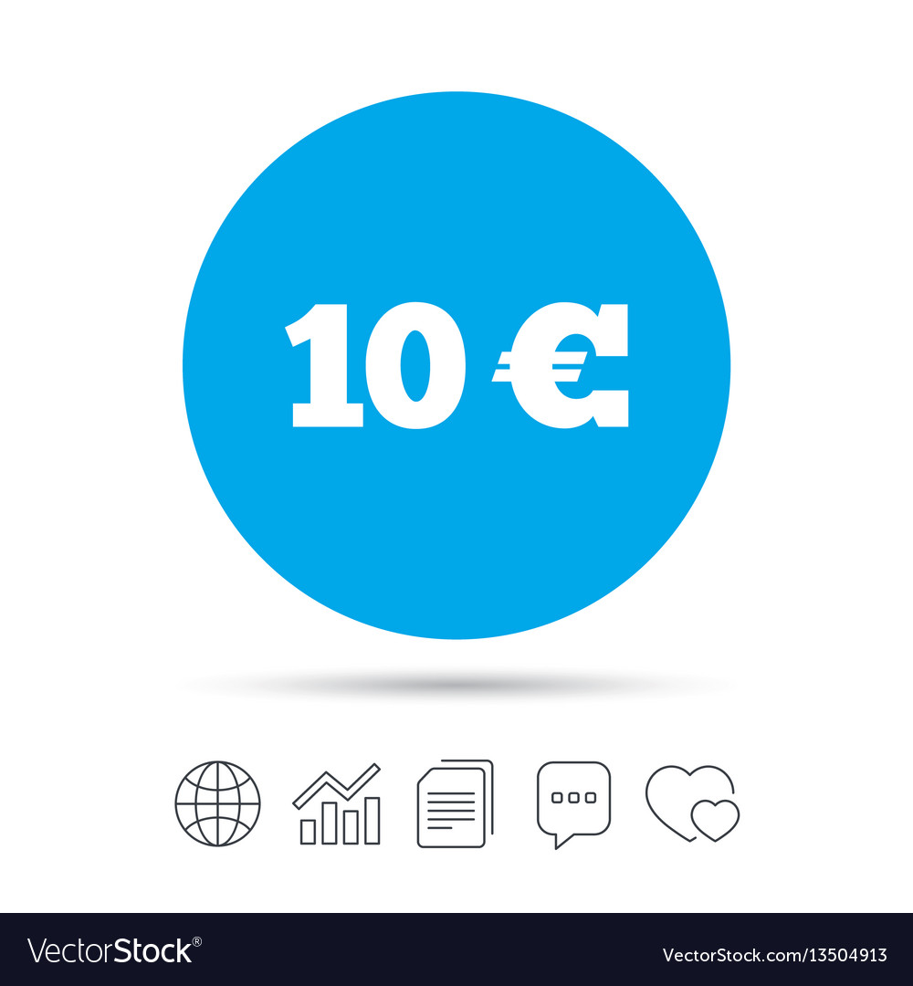 10 euro sign icon eur currency symbol