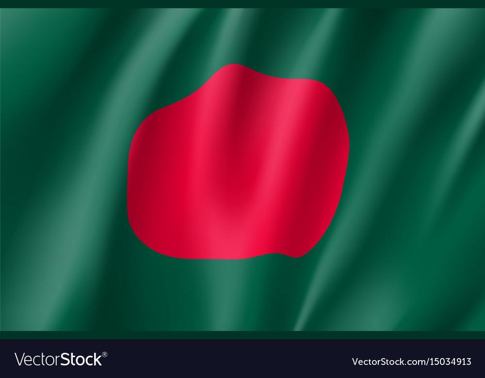 Bangladesh flag flat style vector image