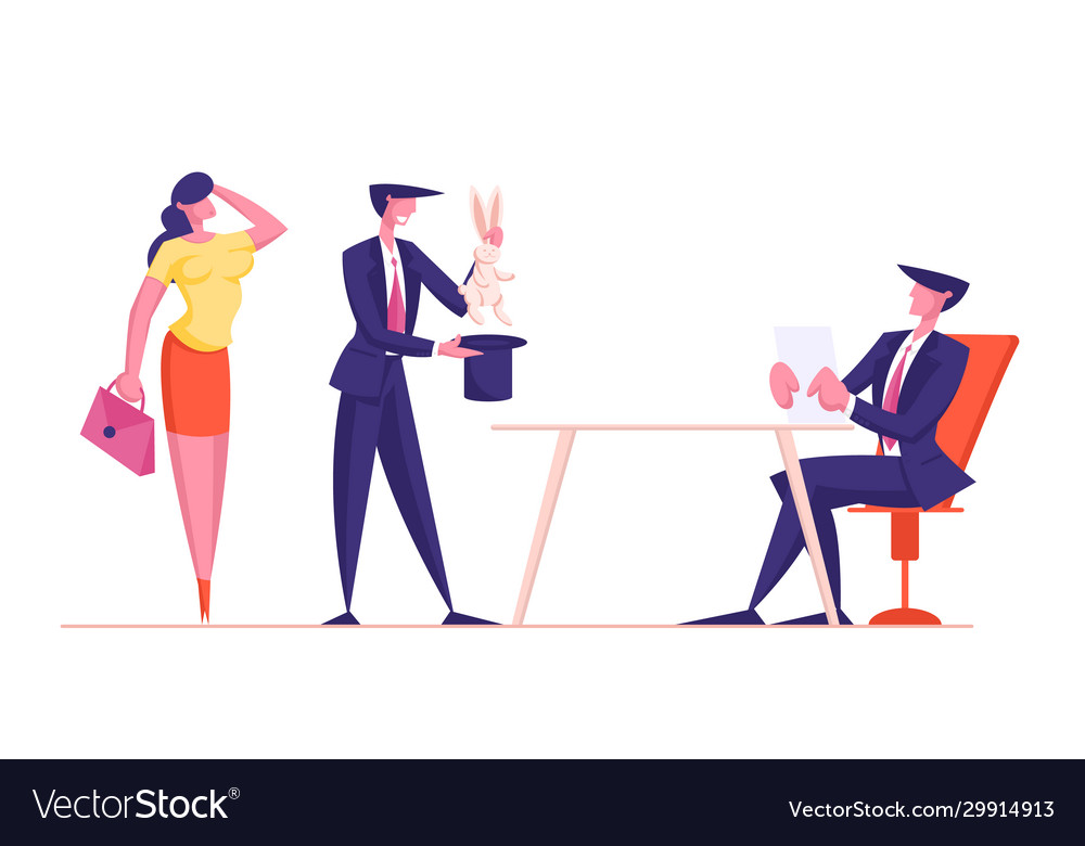 Couple businessman and businesswoman using top