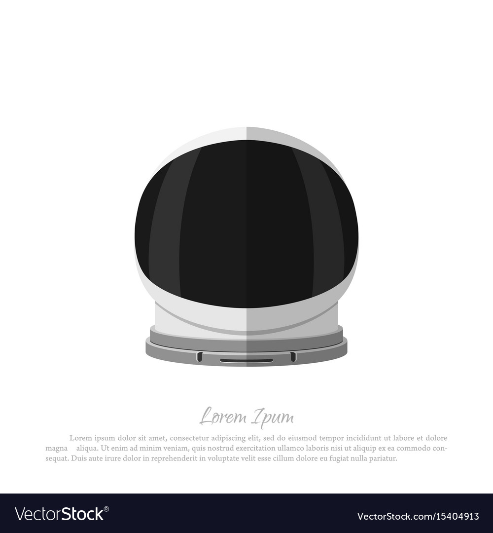 Helmet of astronaut icon of space hat vector image