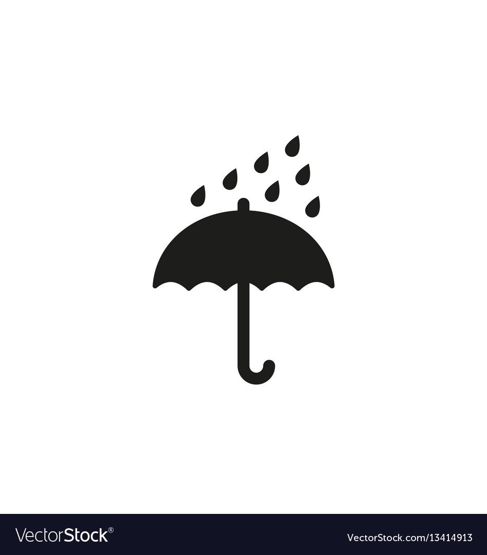 Keep dry symbol on white background