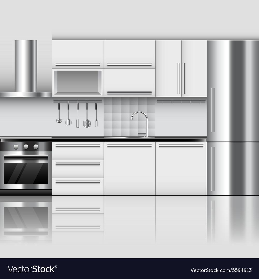 Modern Kitchen Interior Background