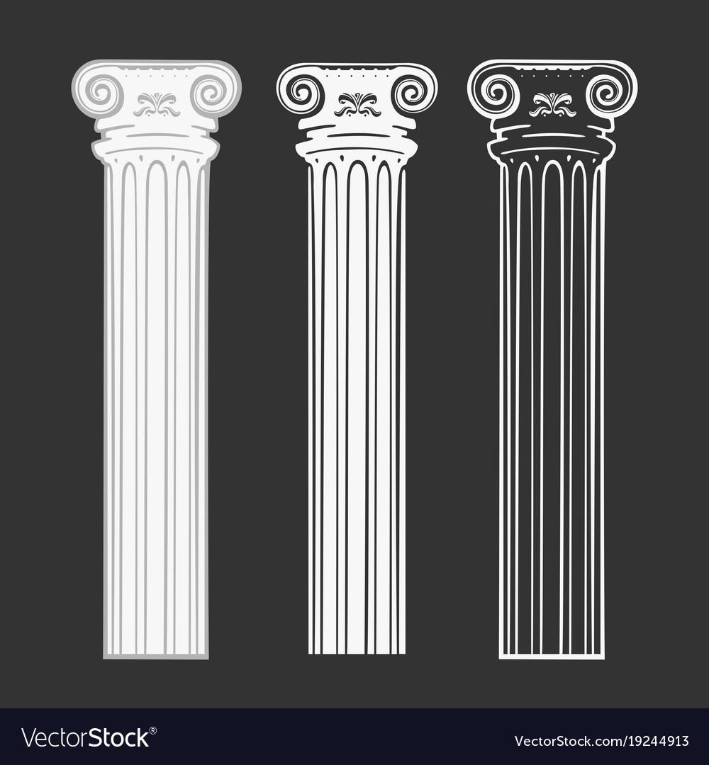 Set of symbols column