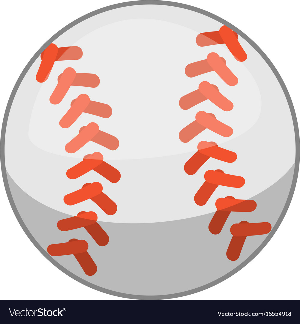 Baseball ball icon cartoon style