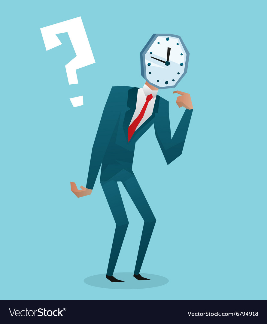Businessman watch head vector image