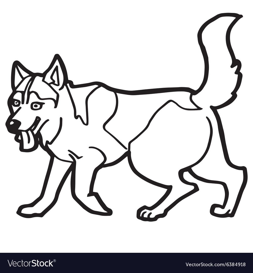 Cartoon dog coloring page