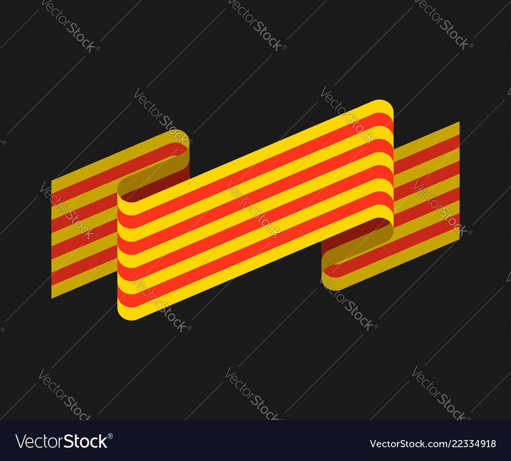Catalonia flag isolated estelada blava banner