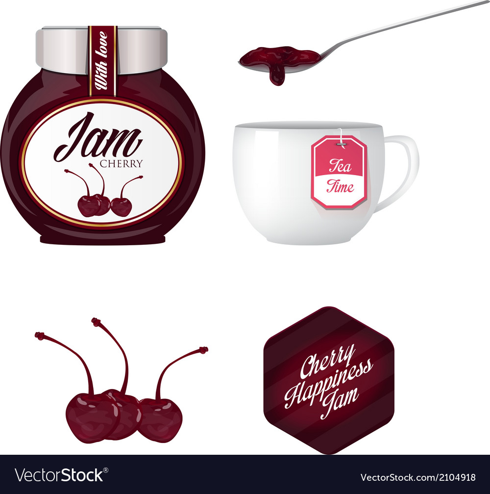 Cherry jam and a cup of tea