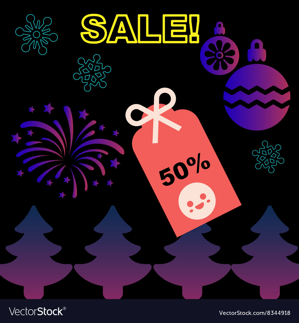 Christmas and New Year Sale promotion sticker