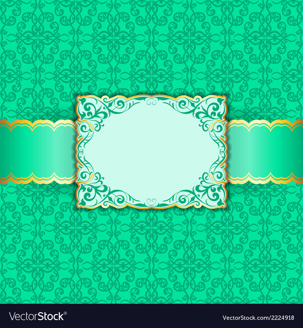 Greeting card in green colors