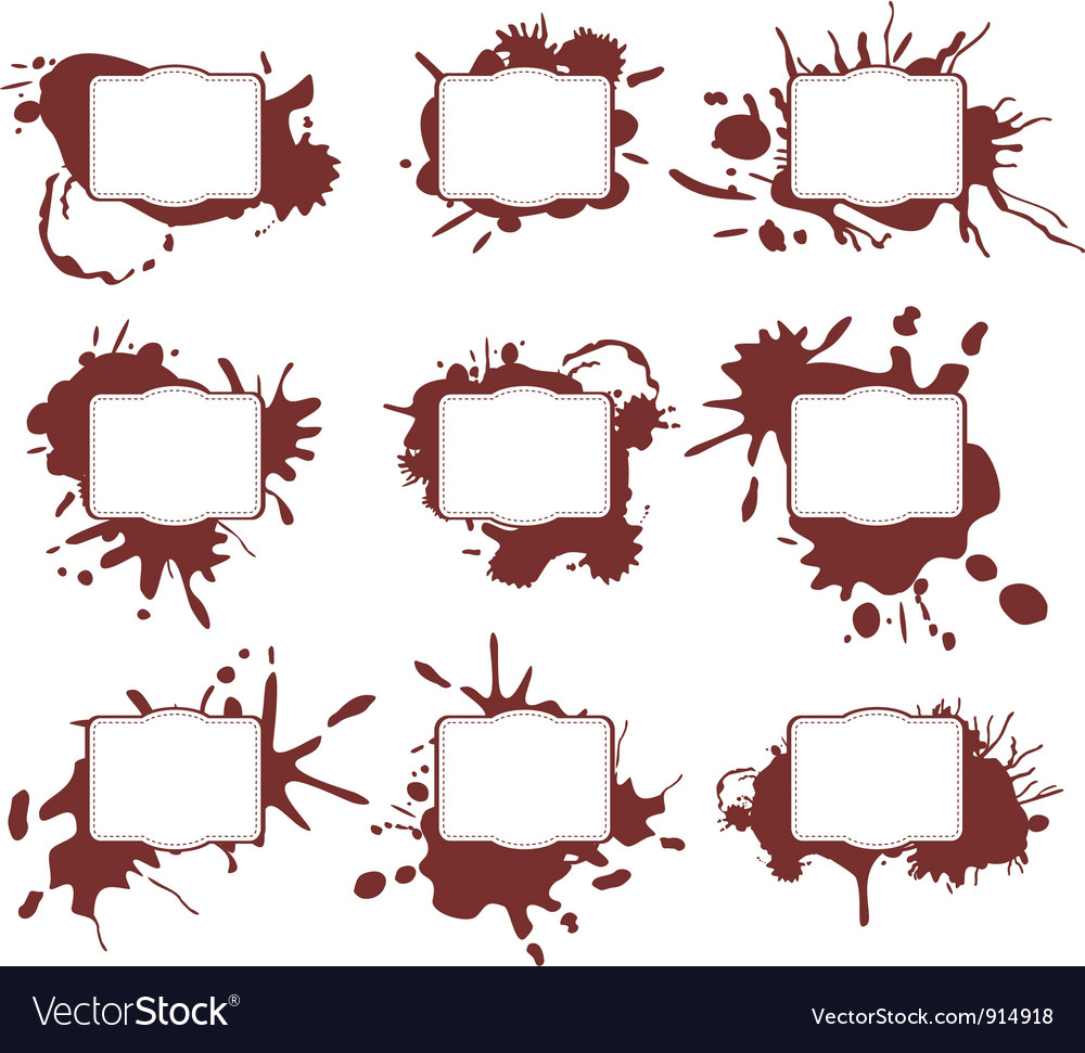 Ink Splats Frames vector image