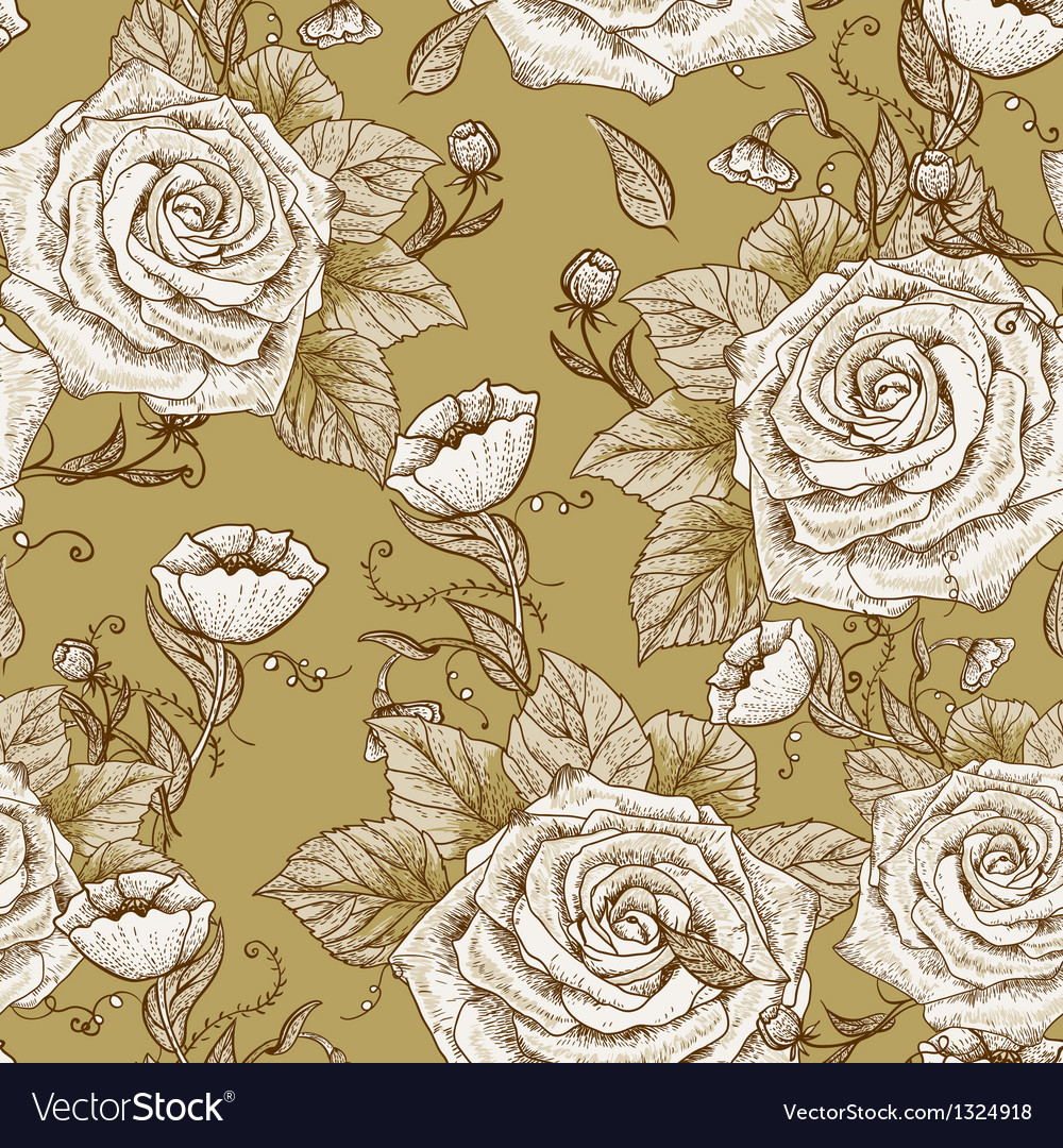 Seamless Floral Vintage Pattern Royalty Free Vector Image