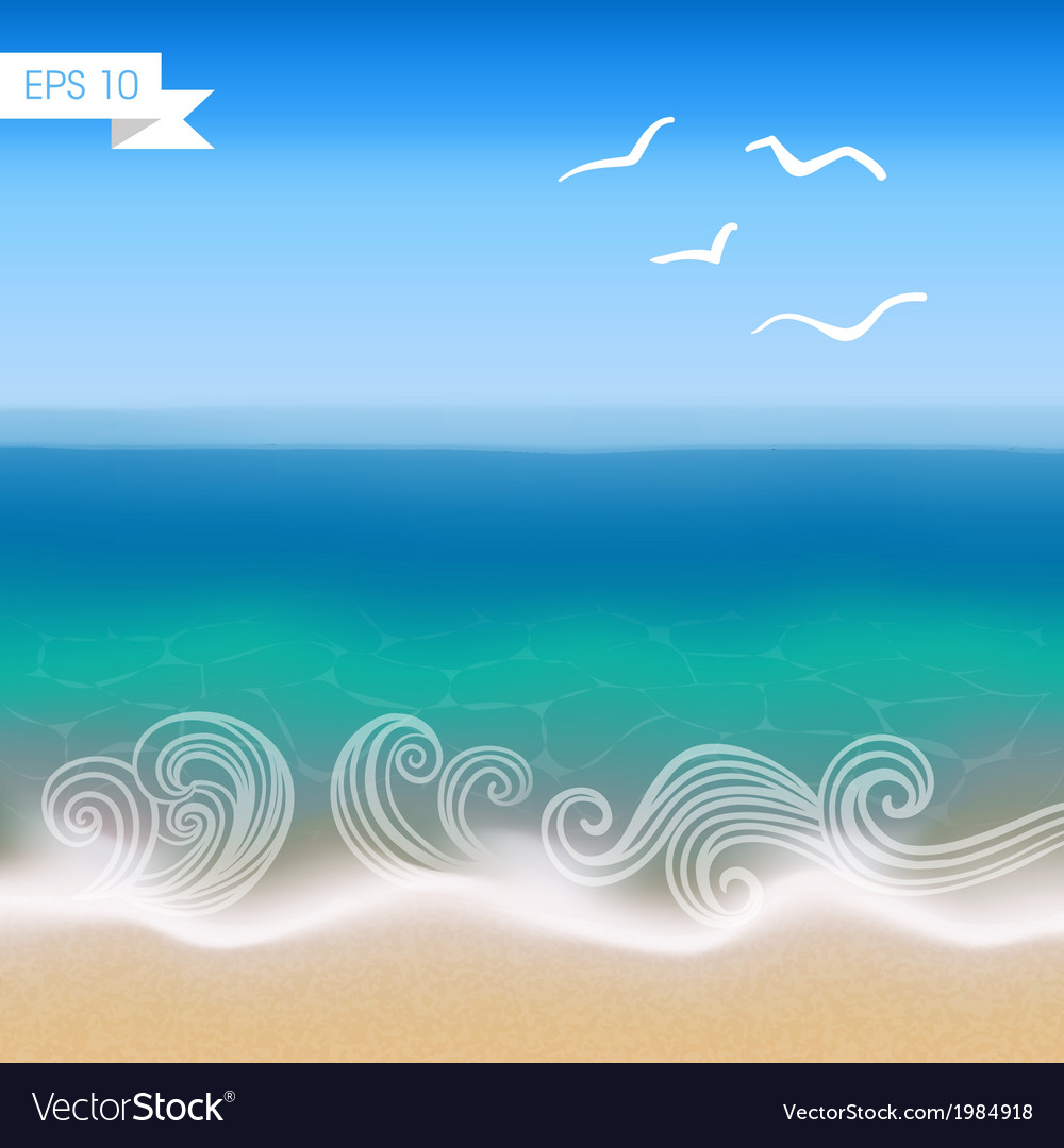 Seaside view background