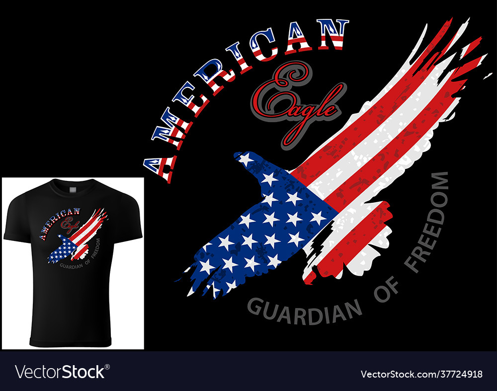 T-shirt design american eagle