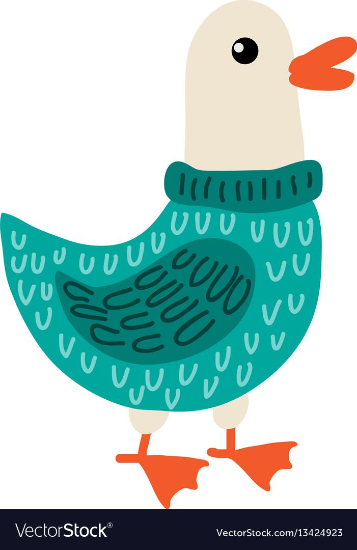 Cute cartoon goose