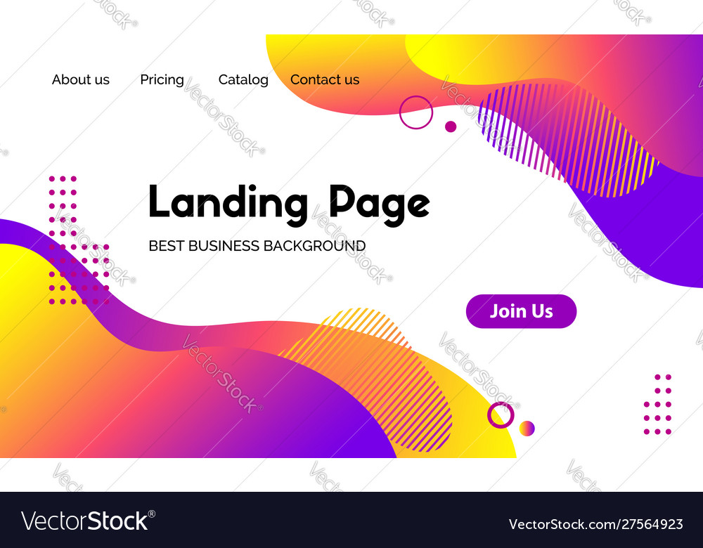 Landing page template abstract modern