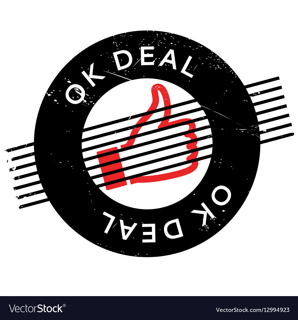 Ok Deal rubber stamp