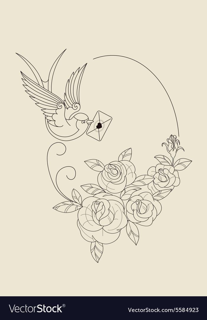 Old School Tattoo Symbols Royalty Free Vector Image