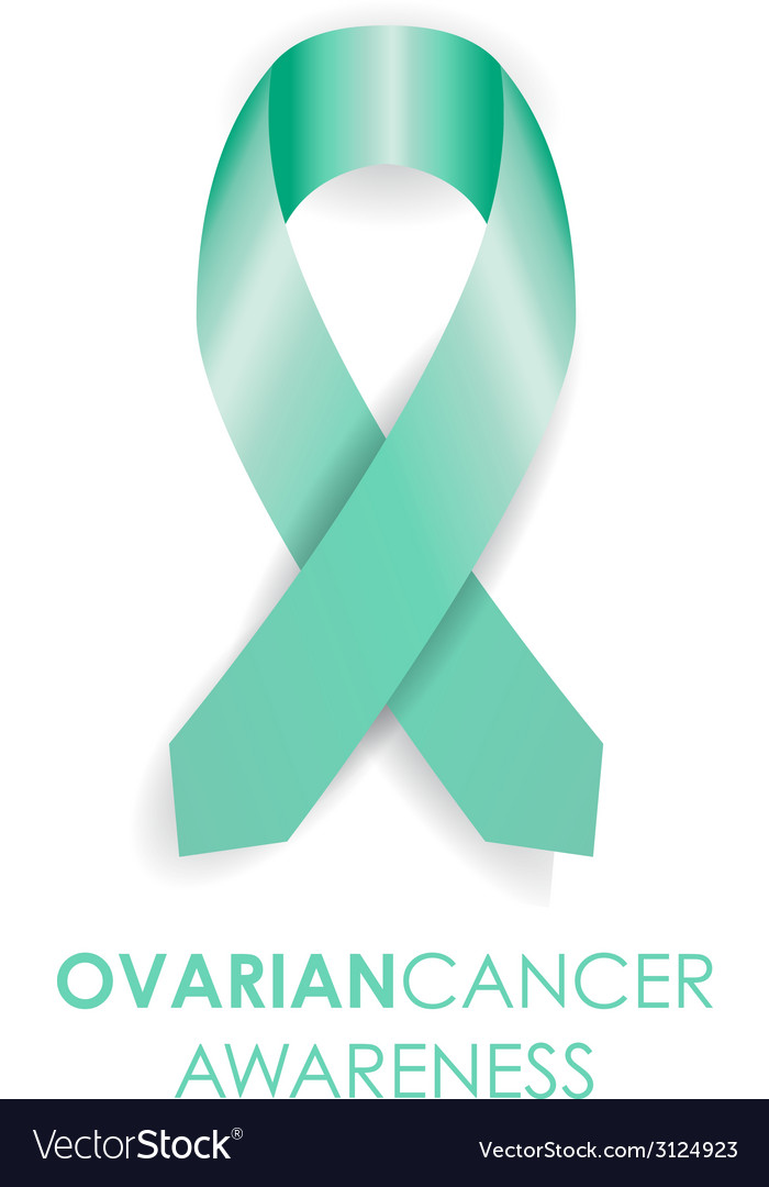 Ovarian Cancer Ribbon Royalty Free Vector Image