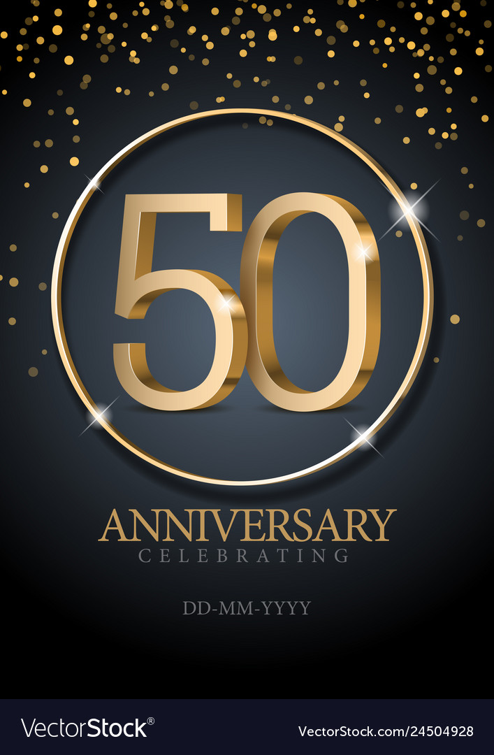 Anniversary 50 gold 3d numbers