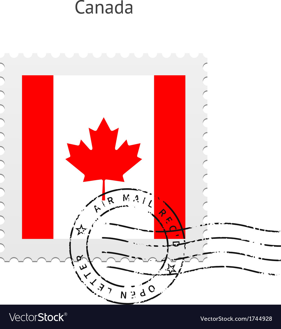 Canada Flag Postage Stamp Royalty Free Vector Image