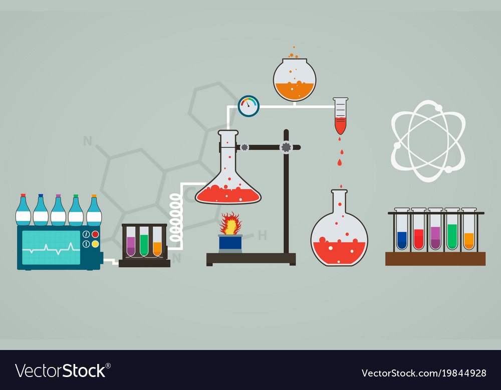 Chemistry infographic template of medical research
