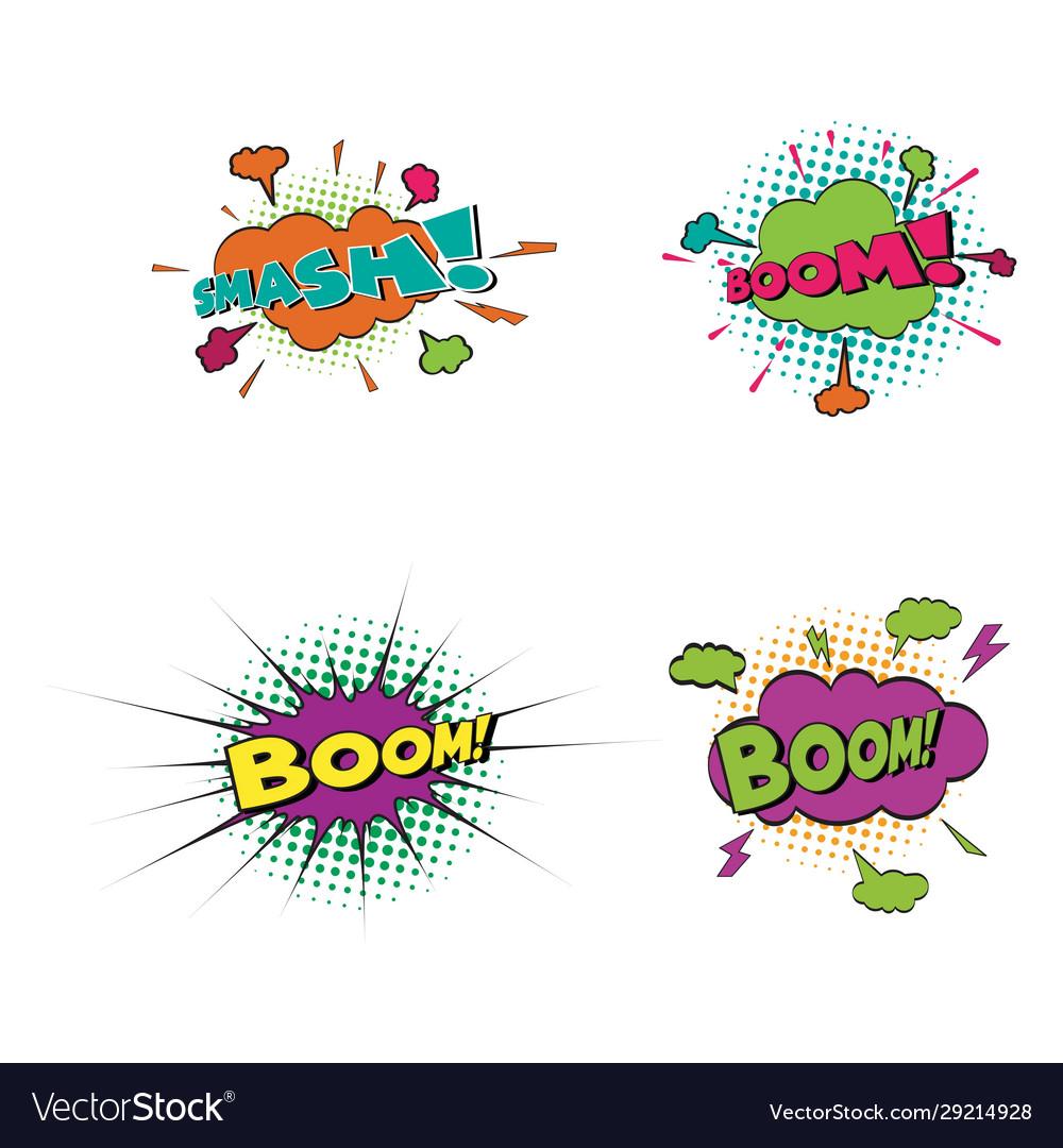Comic text pop art style