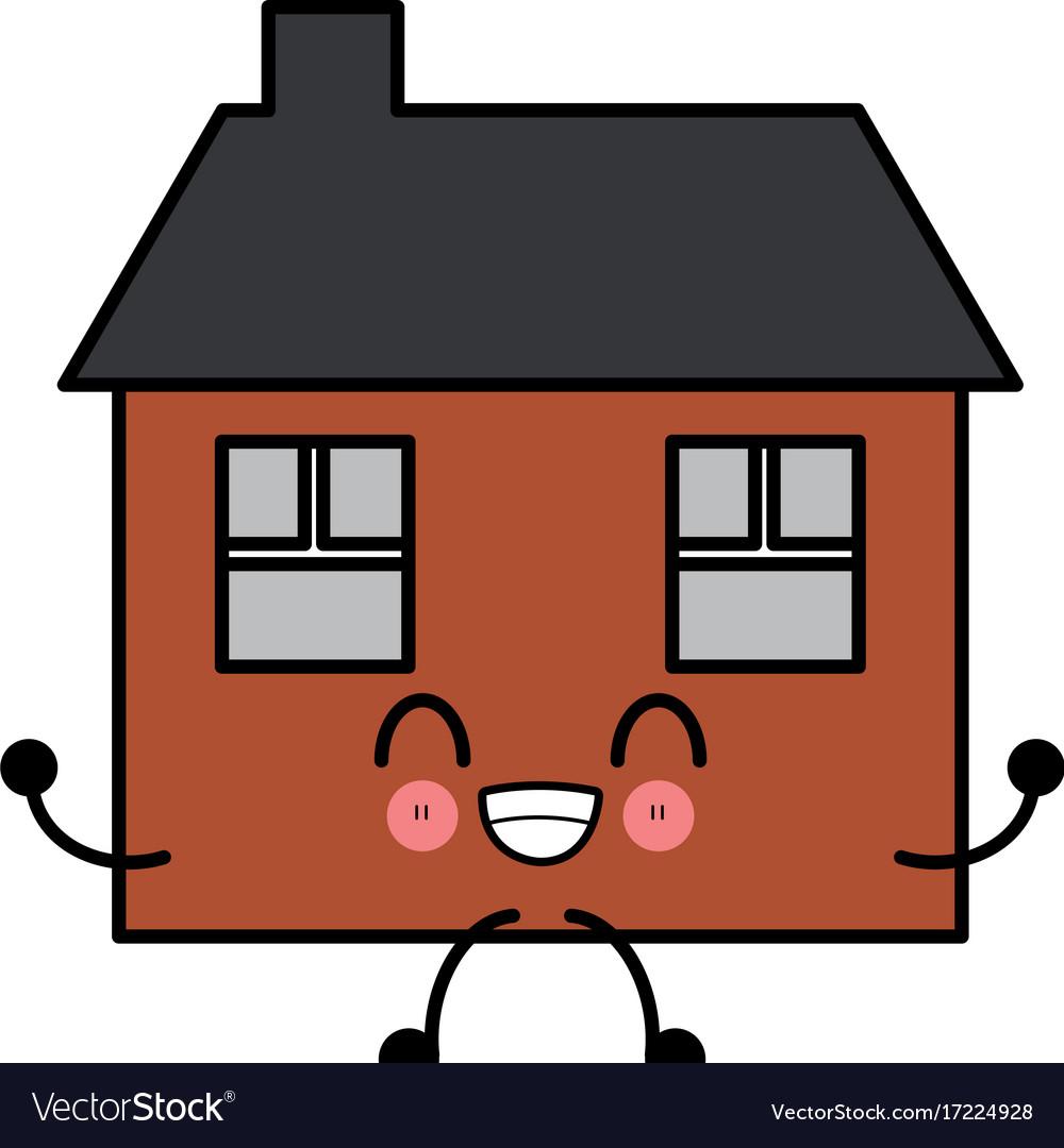 house real estate cute kawaii cartoon royalty free vector rh vectorstock com vector house chico ca vector house images