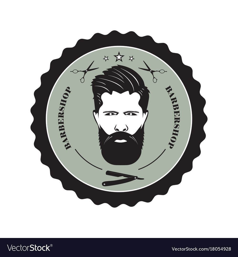 Logo for the barber shop vector image